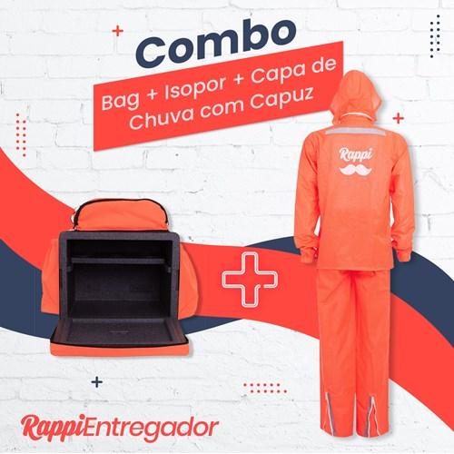 Combo 6: Bag + Isopor + Capa de Chuva com Capuz